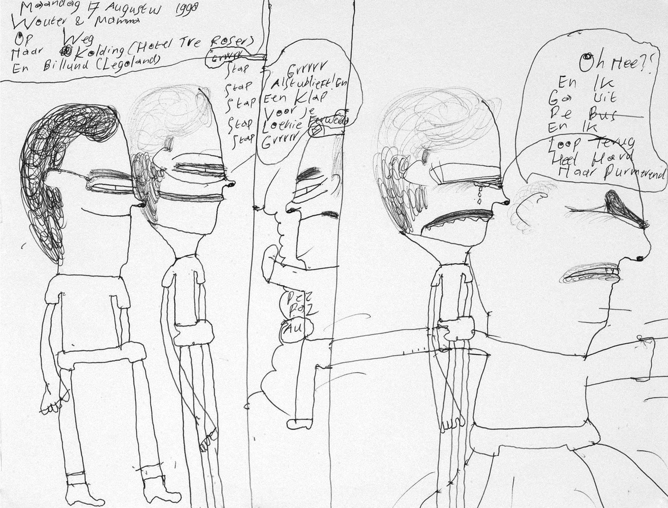 Wouter Coumou, Sans titre, feutre sur papier, vers 2000, 21x29,6cm.