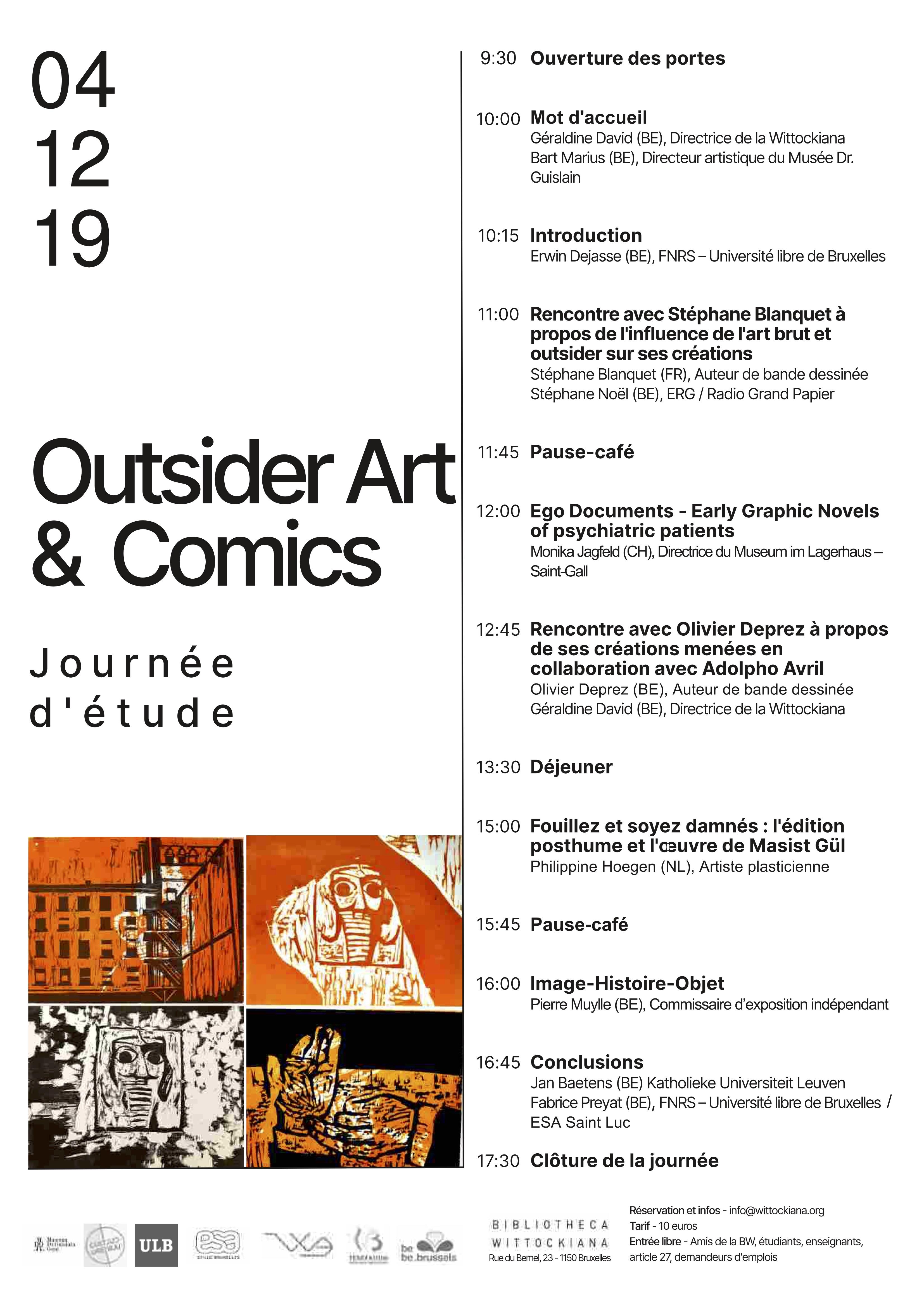 Journée étude Outsider Art - Comics FR