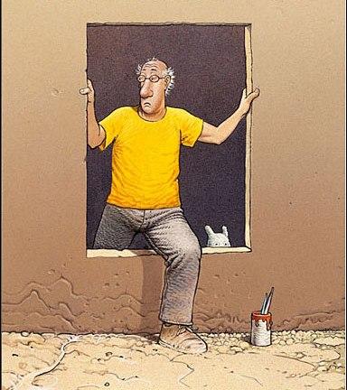 Moebius, self-portrait